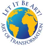 Let It Be Art logo globe